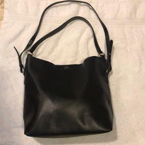 Black leather Ralph Lauren purse